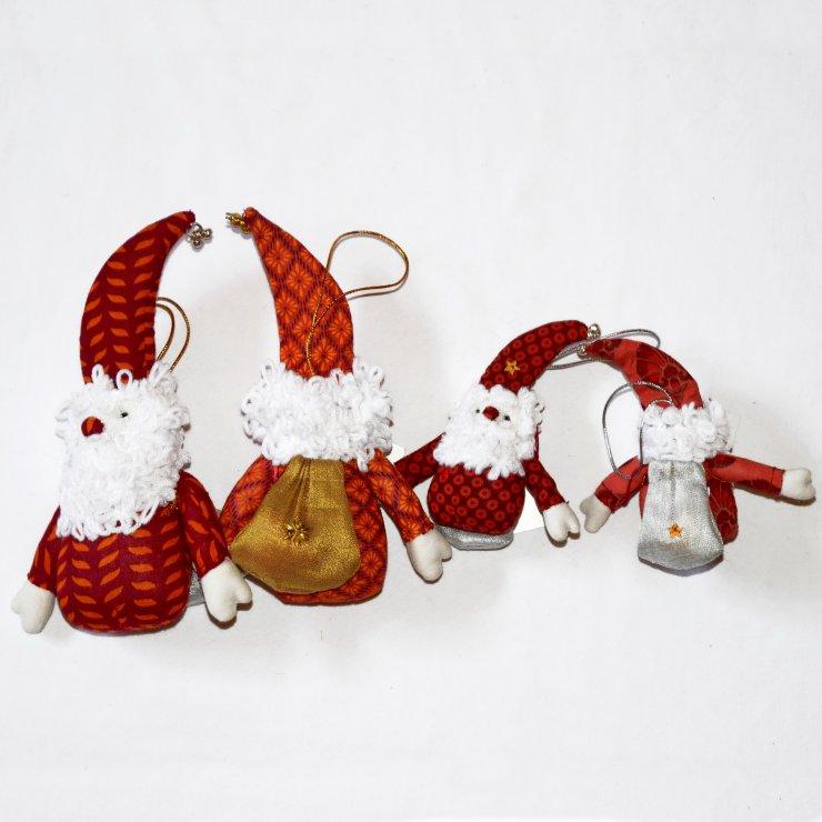 6 St/ück Dekoration und Basteln Leinen Party f/ür Weihnachten gro/ß Weihnachtsstr/ümpfe zum Aufh/ängen soweilan Weihnachtsstr/ümpfe aus Jute einfarbig